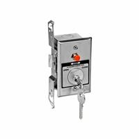HBFST NEMA 1 Interior Tamperproof OPEN-CLOSE Key Switch with Stop Button in Single Gang Back Box Flush Mount