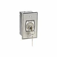 HBFX Exterior OPEN-CLOSE Key Switch in Single Gang Back Box Flush Mount
