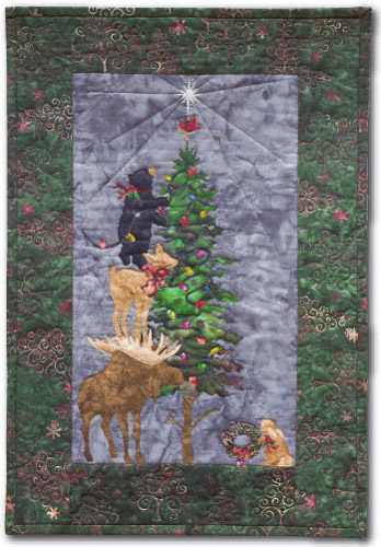 O' Christmoose Tree Applique Pattern