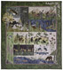 Complete At Home in the Woods quilt with birds, deer, bears, wildflowers, fish, and moose.