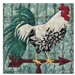 Quilt block of the proverbial weather vane rooster