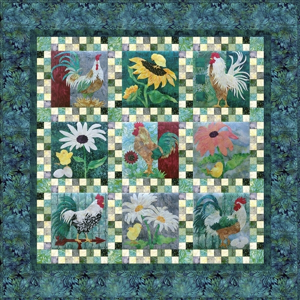 Picture of the complete All Spruced Up quilt pieced together