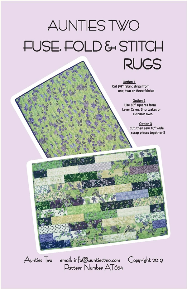 Fuse Fold Stitch Rugs Pattern by Aunties Two