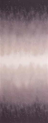 Ombre fabric that fades from dark purple to white and back, with small white stars.
