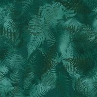 Swirling fern leaves in emerald green.