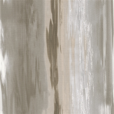 Flowing water screen print in beige and light brown.