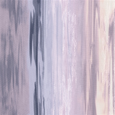 Flowing water screen print in deep lavender and light pink.