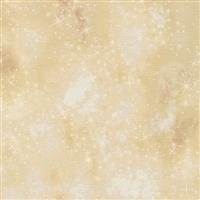 Star lacquer mottled screen print in golden ivory.