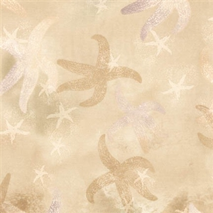 Starfish screenprint in linen with hints of golden brown and sand.