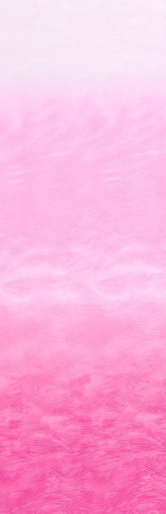 Ombre screenprint that fades from hot pink to pale pink.