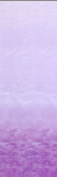 Ombre screenprint in deep purple to pale violet.