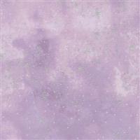 Metallic star lacquer mottled screen print in light purple.