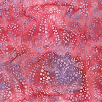 Sand Dollar pattern fabric in fuchsia and purple.