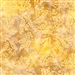 Ornate leaf batik fabric in yellow and gold.