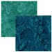 Gorgeous batiks in either blue-green (Persia) or green (Chamomile)