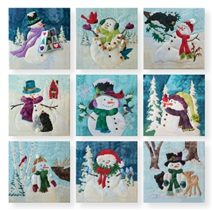 Full set of nine Snow Buds Truly McKenna Art Prints.