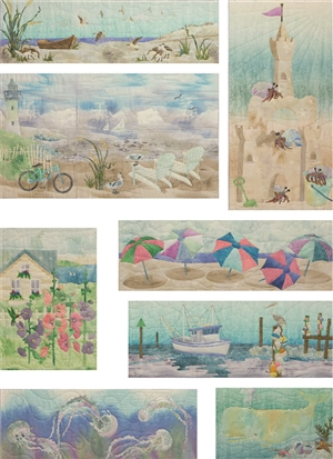 Full set of eight Beach Walk Truly McKenna Art Prints.
