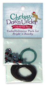 Embellishment kit for Chrissy Down Under's Bright N Beachy quilt block