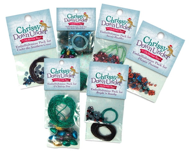 Chrissy Down Under Complete Embellishments Set - SOLD OUT!