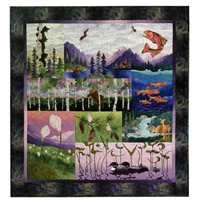The Northwoods, captured perfectly in a single quilt.