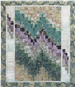 a bargello design of a southwestern quilt