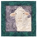Quilt block of Fran the Sheep.