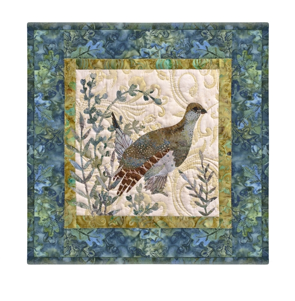 Quilt block of a grouse