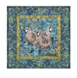 Quilt block of a covey of partridge