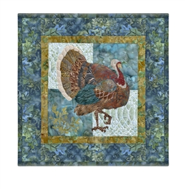 Quilt block of a turkey