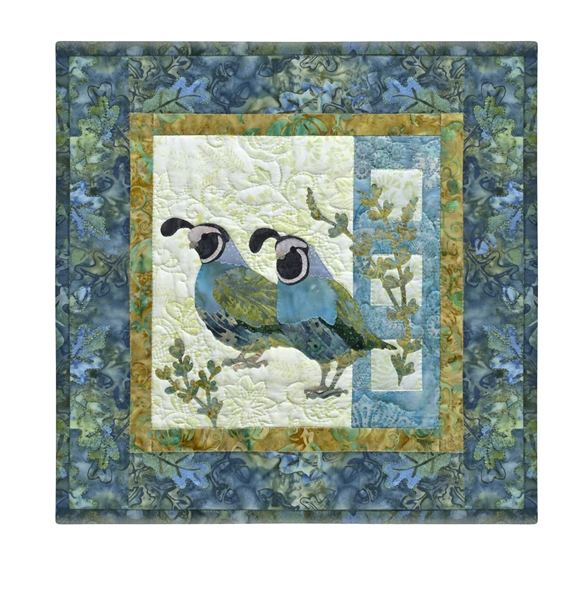 Quilt block of a bevy of quail