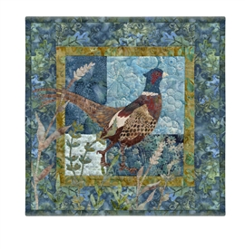 Quilt block of a pheasant