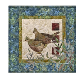Quilt block of a pair of birds