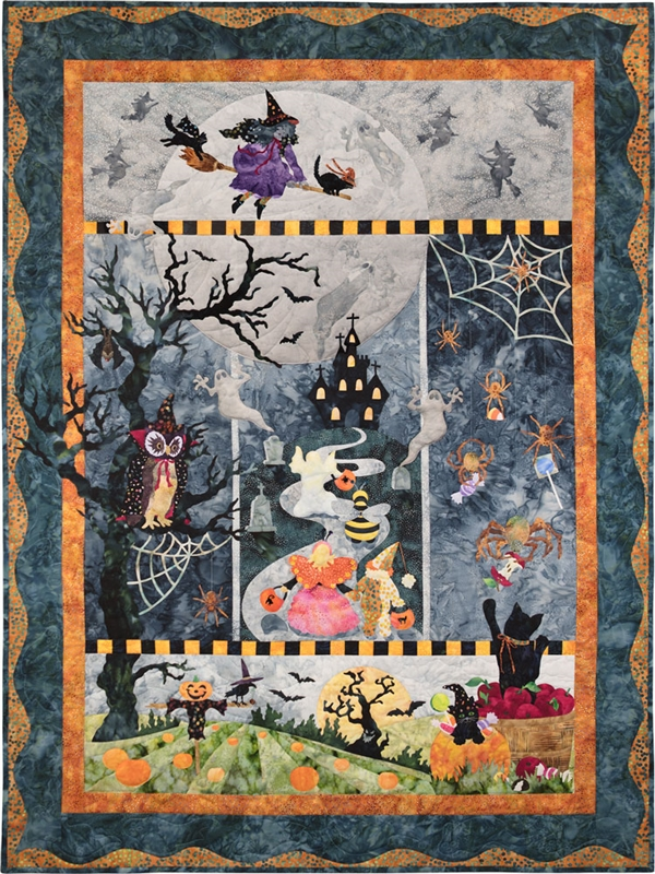 Once in a Boo Moon Complete Quilt Traditional Fabric Kit