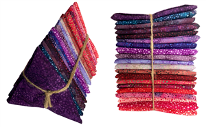 Hoffman 885 Batik Purples/Pinks Fat Quarter Bundle (20 pieces)