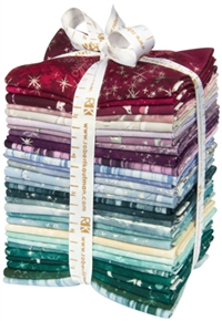 Complete selection of SugarPlum fabrics, folded into fat quarters and bundled.