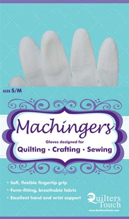 Image of Machingers package of quilting gloves.