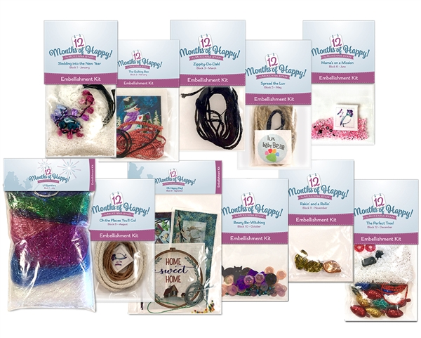 12 Months of Happy Complete Embellishment Kit