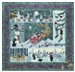 Complete quilt image for Heaven and Nature Sing, with silly bears, happy cardinals, singing animals, brand new babies, and Santa himself.