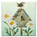 Quilt block of a wren on top of her house, hence the witty wordplay.