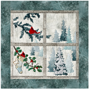 applique pattern for Joyeux Noel Window quilt block