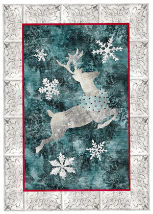 applique pattern for Joyeux Noel Reindeer quilt block