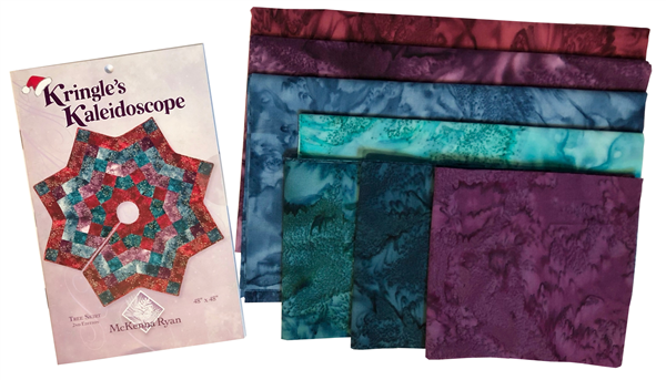 Kringle's Kaleidoscope Tree Skirt Fabric Kit