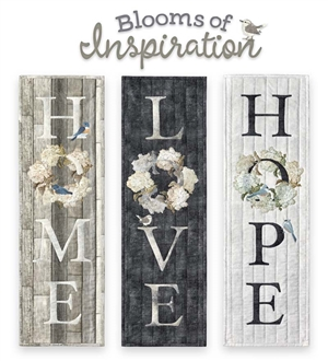 Blooms of Inspiration - Home Love Hope Laser Cut Fabric Kits