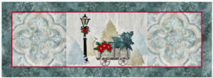 laser cut fabric kits for Joyeux Noel Wagon 3-block group quilt block