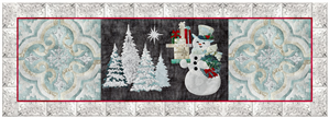 laser cut fabric kits for Joyeux Noel Snowman 3-block group quilt block