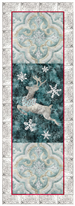 laser cut fabric kits for Joyeux Noel Reindeer Right-side 3-block group quilt block