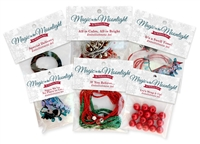 The Complete Magic in the Moonlight Embellishment Set includes beads, rhinestones, embroidery floss, metallic cord, Angelina Fibers, and more.