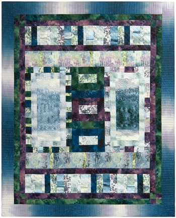 Enjoy making this window pane pieced quilt inspired by birds singing in a meadow.