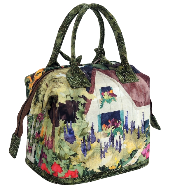 McKenna's In Full Bloom panels used in an Aunties Two Mini Poppins bag