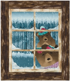 Mama and Brother Bear are looking through your cabin window to see if you are home, because they need something warm to drink!